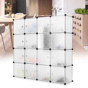 ARMOIRE DE CHAMBRE 16 Cubes LANGRIA Armoire de Chambre Penderie Modul