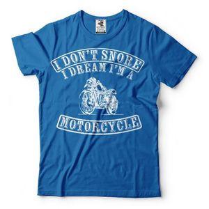 T-SHIRT Motorcycle T-Shirt Funny Snore T-shirt biker Tee S