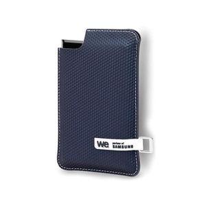 DISQUE DUR SSD EXTERNE WE SSD externe - 250Go - Noir/Bleu - Housse bleue