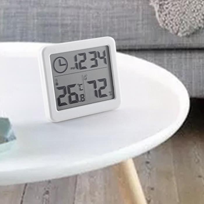 Numérique LCD Thermomètre Hygromètre Humidimètre Salle Température Intérieure Horloge G591