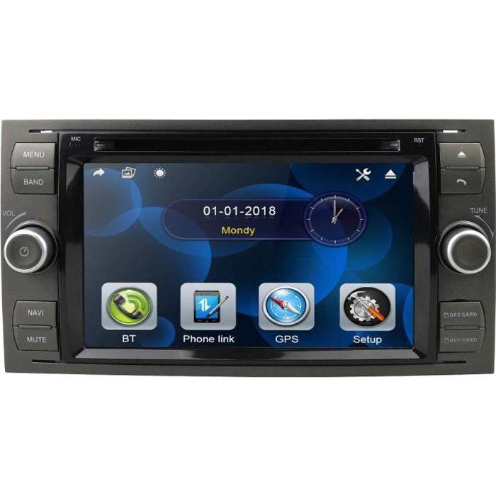 Autoradio Lecteur DVD 2 Din 7 Pouces Autoradio Navigation GPS Skonsole in Dash Headunit pour Ford Focus Support Écran Tactil 2467