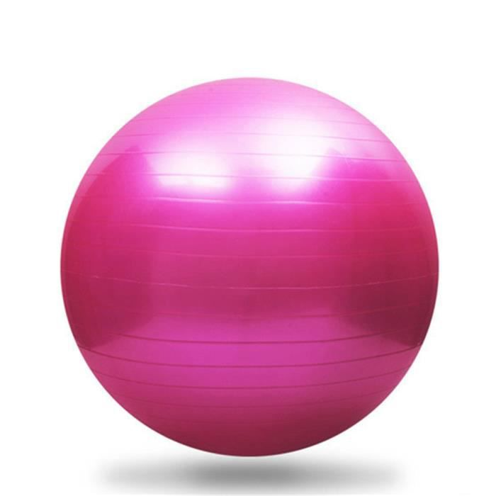 65cm exercice yoga swiss ball anti-éclatement + pompe rose