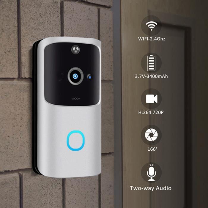Sans fil WiFi DoorBell Smart Video Phone Interphone visuel Sonnette Caméra sécurisée LLY200914103SL
