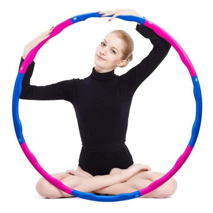 Hula Hoop Fitness, Hula Hoop Adulte Démontable avec Mousse, Professional Hula Hoop Adulte Fitness 1,2 kg, Largeur réglable (19-35 in