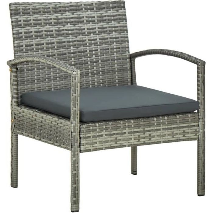 😋7939EXCELLENT qualité - Chaise de jardin avec coussin Fauteuil de Jardin -Chaises de jardin Chaise de terrasse- Chaise Fauteuil Co