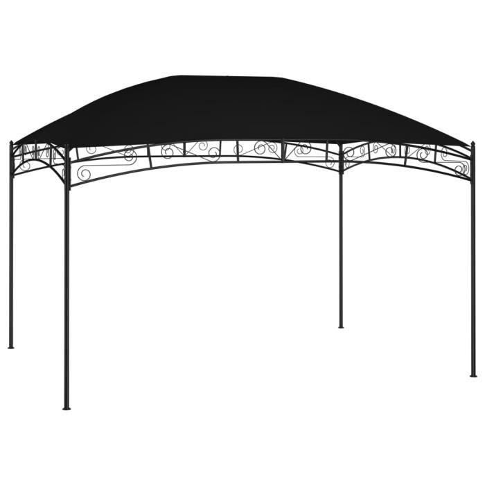 TENDANCES 2021 - Tonnelle Barnum de Reception - Tente Pavillon - Rapide à Installer - 4x3 m Anthracite 180 g-m² GIF21627