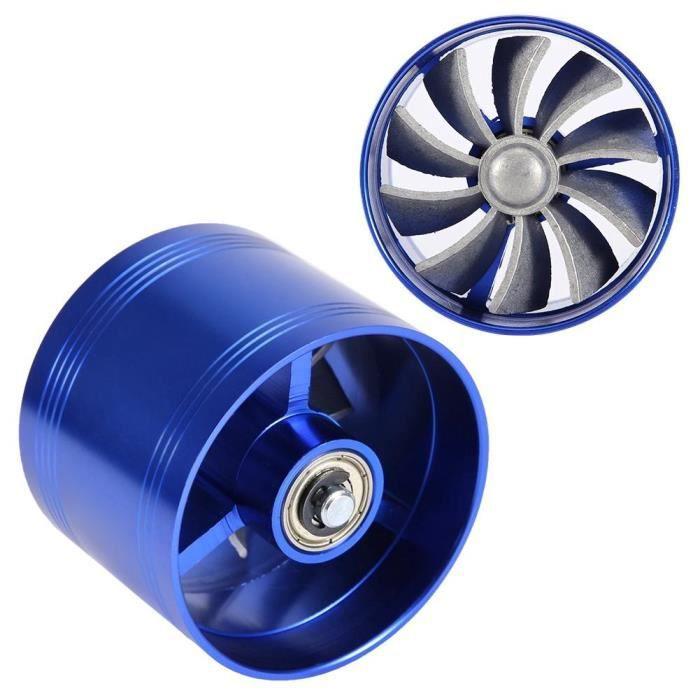 Atyhao Chargeur d'admission d'air Turbine d'Admission Unilatérale Voiture Turbonator à Ventilateur 64 mm Diamètre ExtérieurBleu