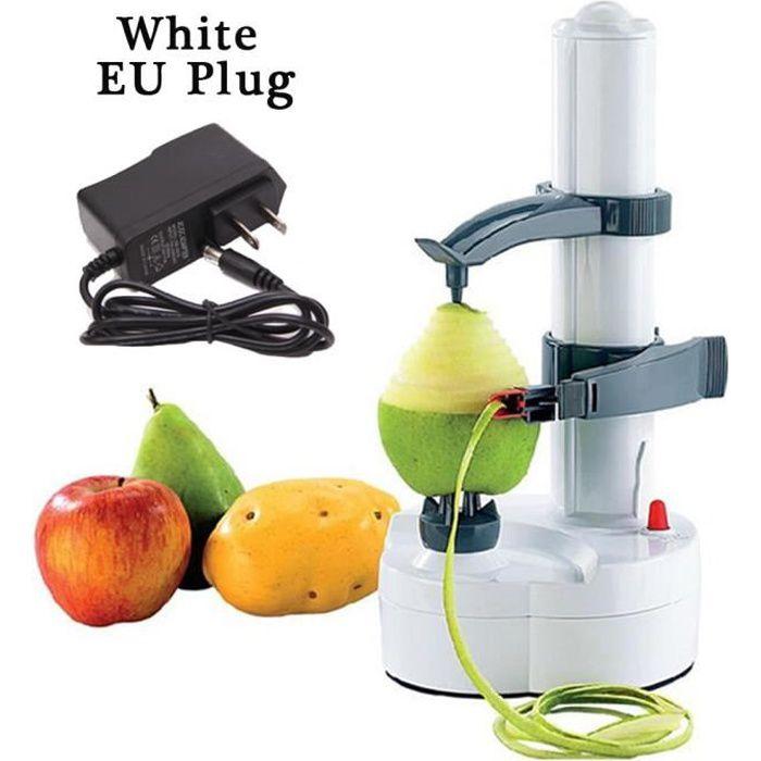 Couteau - Econome,Multi Électrique Pomme Éplucheur Pour Fruits Légumes Automatique En Acier Inoxydable Rotato - Type EU White