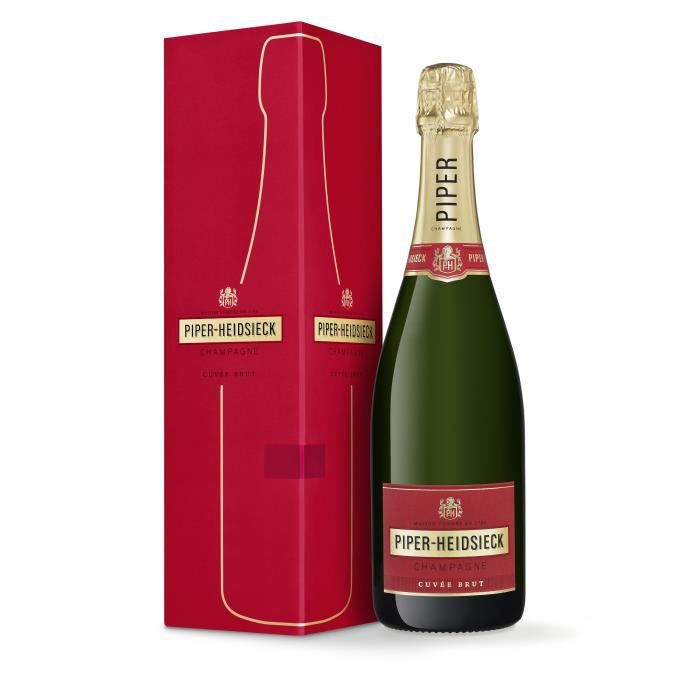 Champagne Piper Heidsieck Cuvée Brut avec étui - 75 cl
