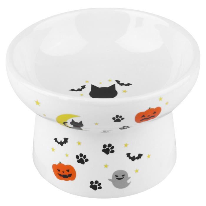 1 pc plat d'alimentation alimentaire bol pour chat surélevé nourriture créative ou eau pour chaton BOL
