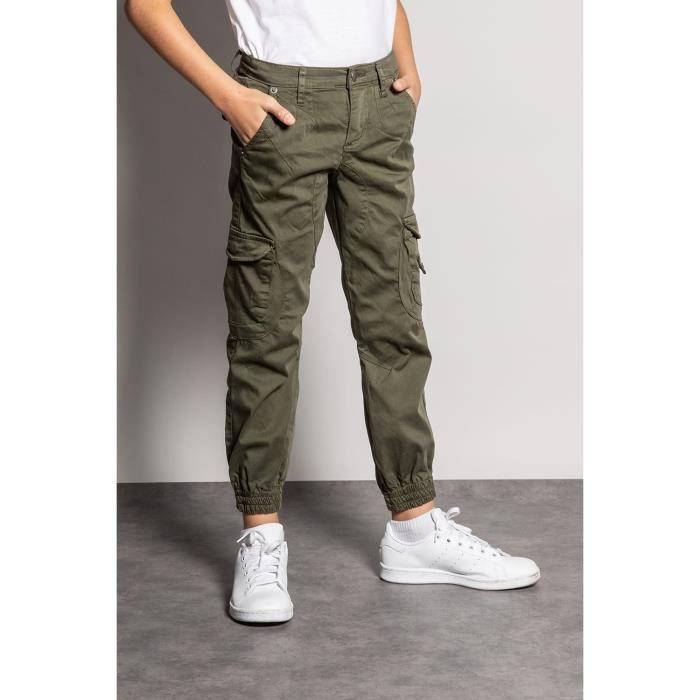 DEELUXE Pantalon slim cargo GARDEN Olive