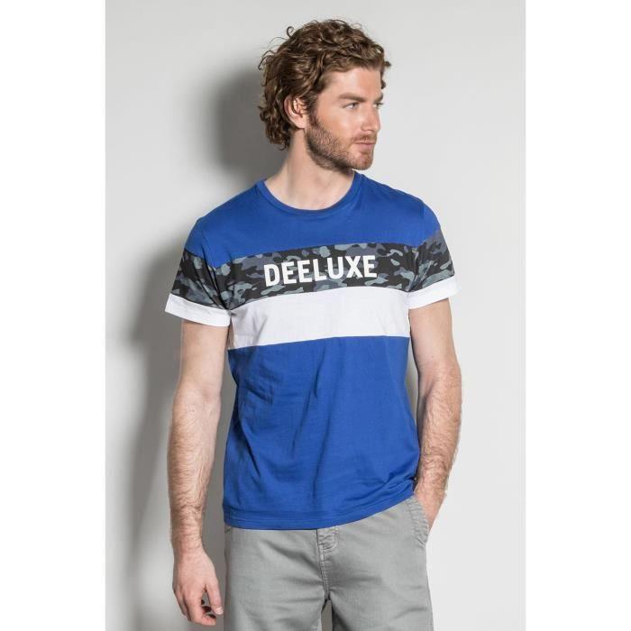 DEELUXE T-shirt à bandes logotées WICKSON Cobalt