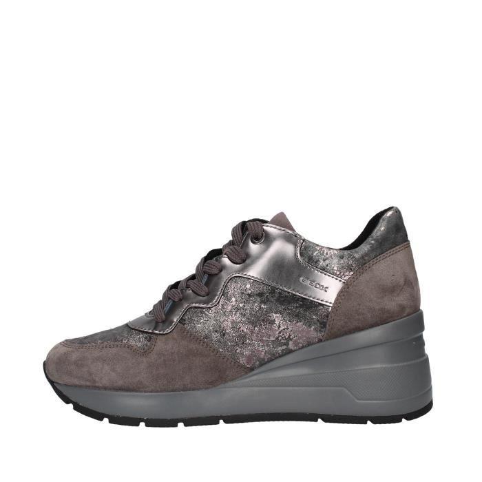 Geox D828LC0MA22 chaussures de tennis faible Femme GRIS