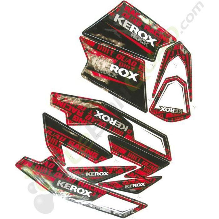 Kit décoration KEROX ROCK ROUGE de pocket quad