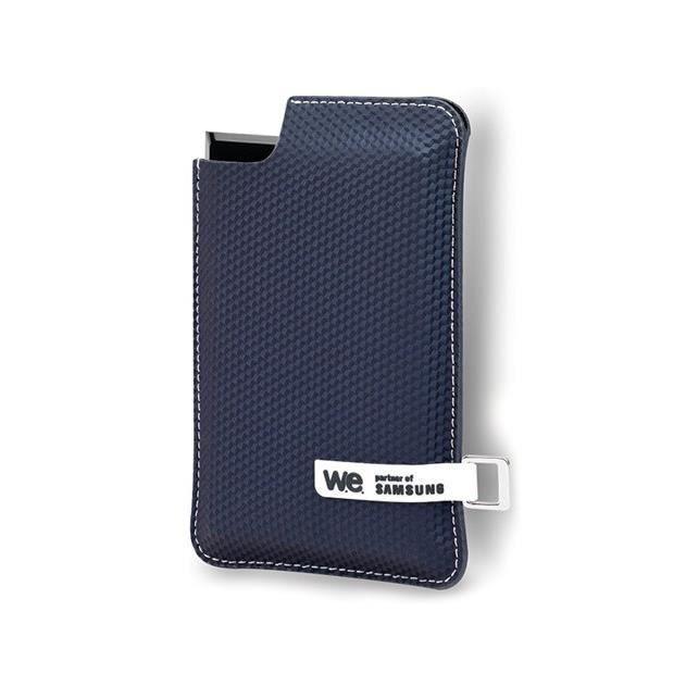WE SSD externe - 250Go - Noir/Bleu - Housse bleue