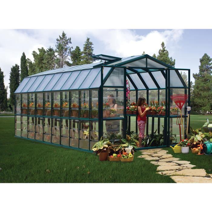 PALRAM Serre de jardin Grand Gardener 16,5 m² - Aluminium et polycarbonate
