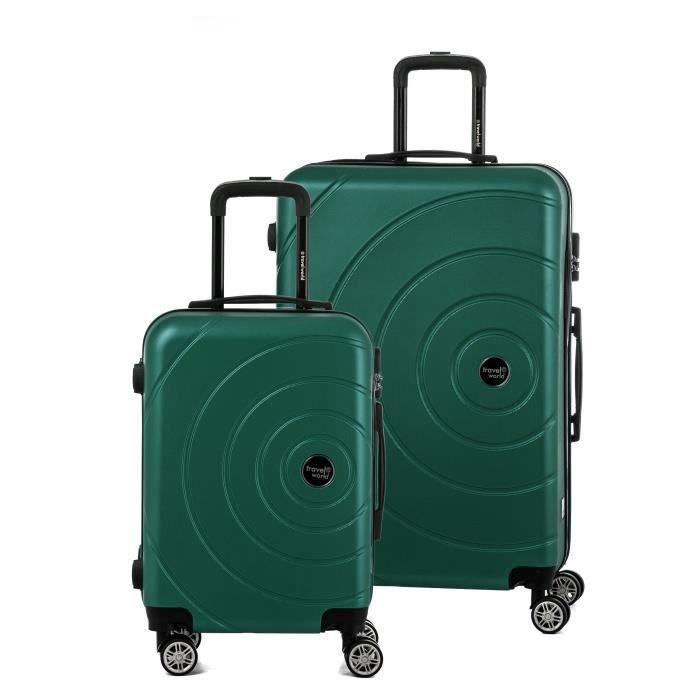 TRAVEL WORLD Ensemble de 2 valises 55/75cm Sapin