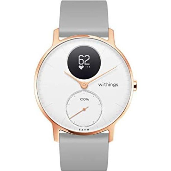 Montre Connectee WITHINGS Steel HR - Gris Silver