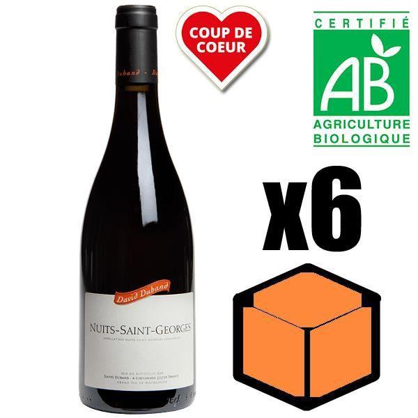 VIN ROUGE X6 David Duband 2014 AOC Nuits-Saint-Georges Vin R