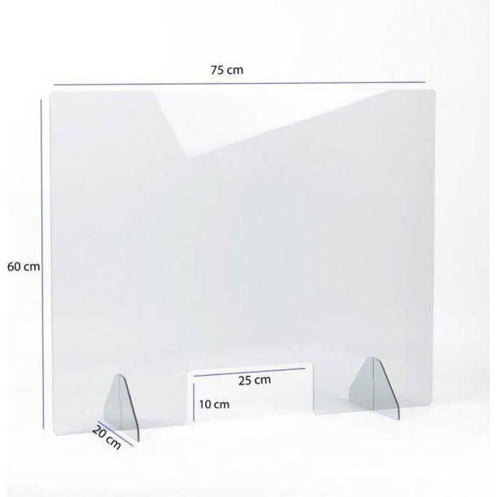 Verre Acrylique Epaisseur 1,8 mm Panneau Protection Plastique Plexiglass Feuille PVC Blanc Plexi Plaque Blanc A3 30 x 42 cm