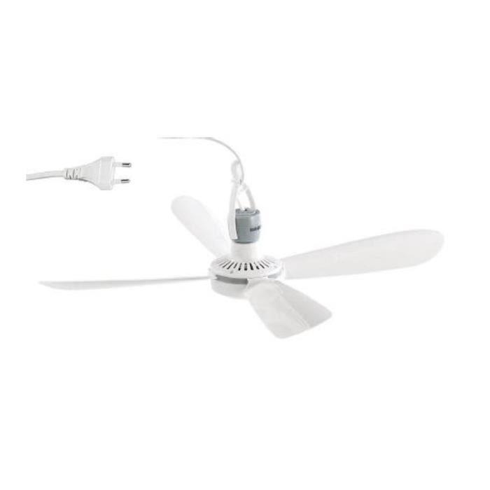 avec suspension Ø 40 cm Blanc 2x mobile ventilateur plafond plafond-Ventilateur 230 V
