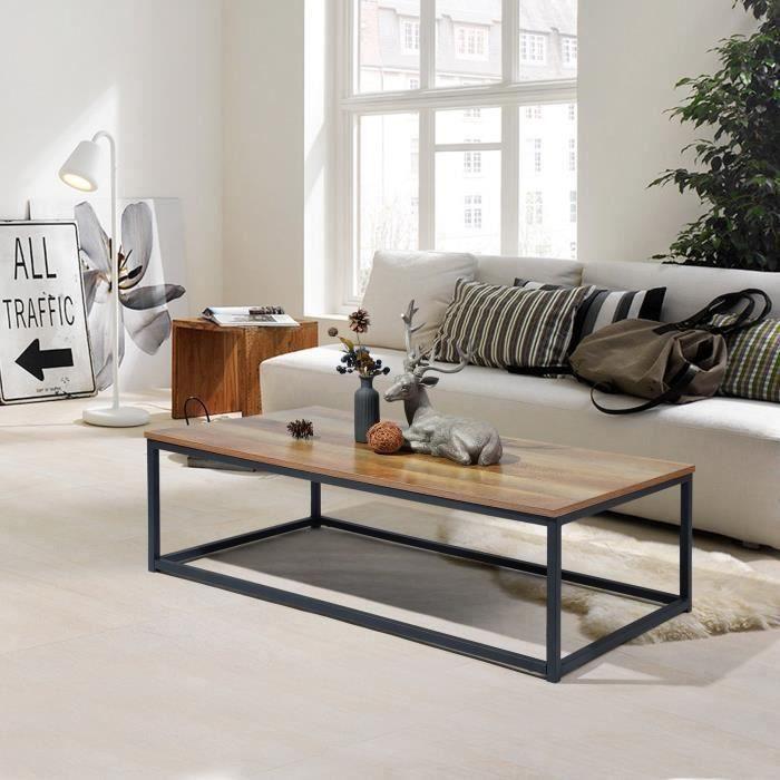 moderne table basse bout canape 110x60cm plateau p