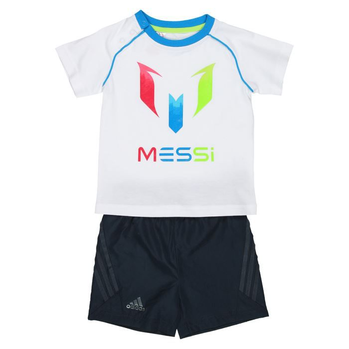 adidas ensemble messi b b gar on blanc et noir achat vente surv tement de sport cdiscount. Black Bedroom Furniture Sets. Home Design Ideas