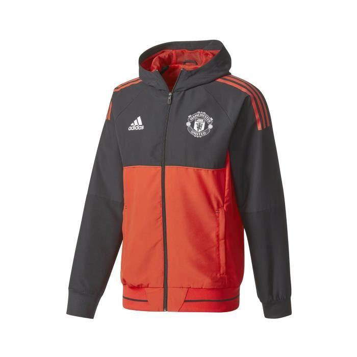 Veste Présentation UCL Manchester United Rouge Noir Prix