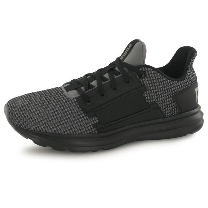 Puma Enzo Street Knit noir, baskets mode homme