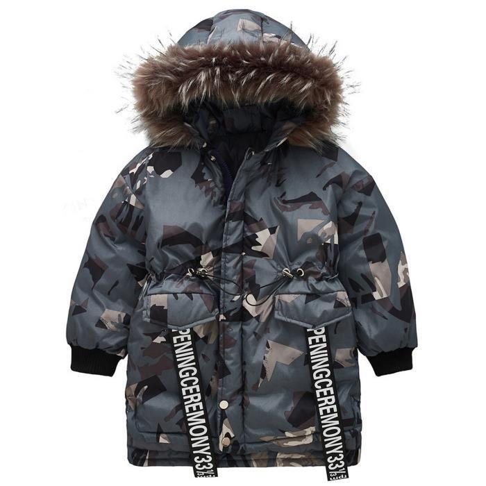 Enfants bébé garçon Camouflage capuche coupe-vent hauts manteau veste vêtements