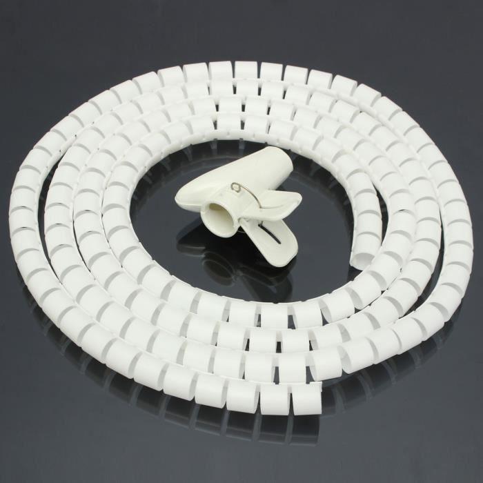 gris Relaxdays Cache c/âble range-c/âbles organiseur de c/âbles range-fils cache-fils 1 m