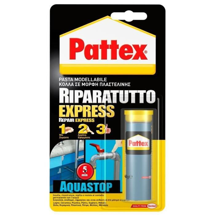 Pattex Pâte à Réparer Métal Express Acquastop 48 G Achat Vente Colle Pate Fixation Pattex Pâte à Réparer Métal Cdiscount