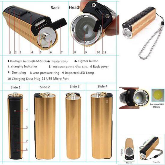 Lumière d/'urgence lampe de poche Igadgitz 3 en 1 Pop Up DEL Camping Lanterne