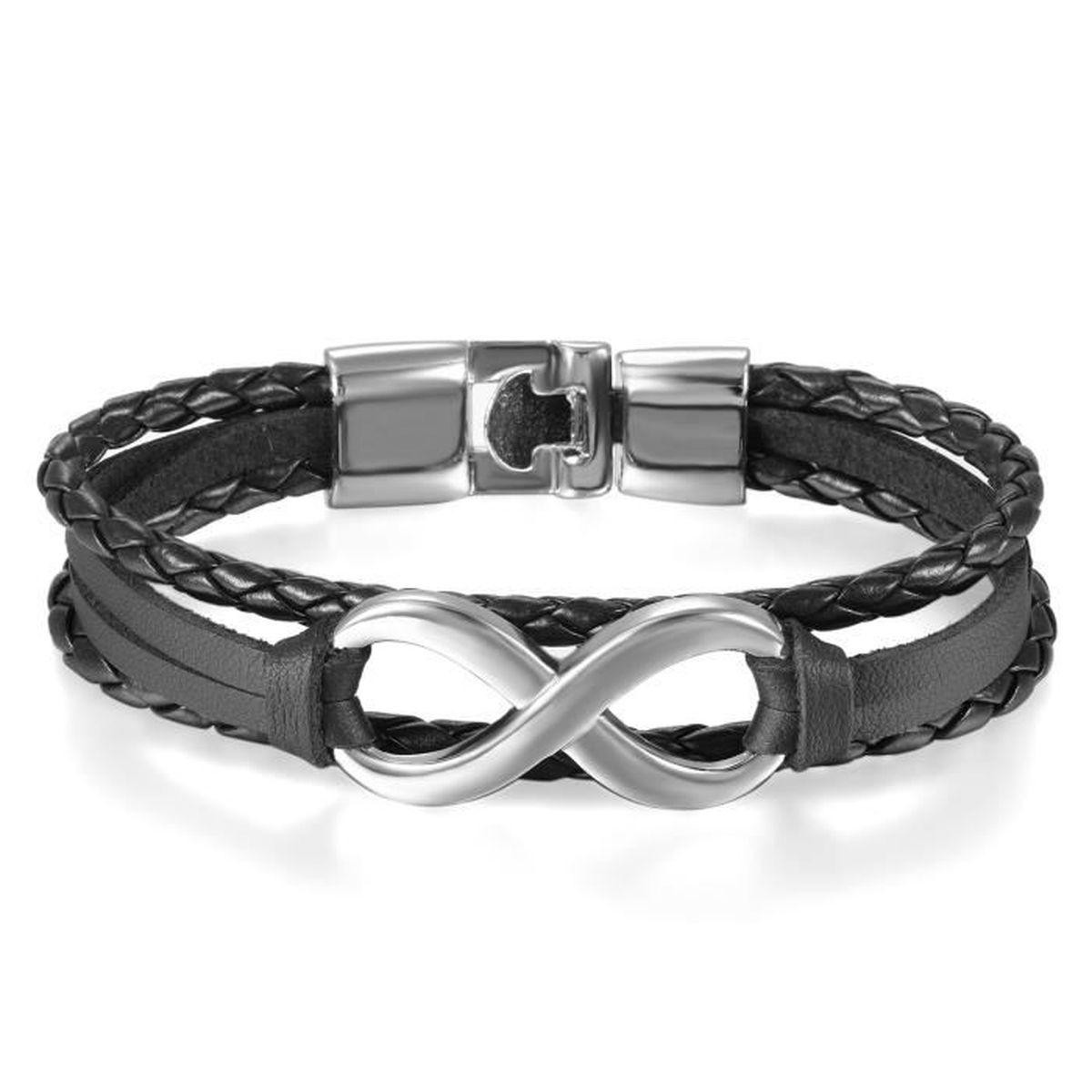 bracelet homme infinity
