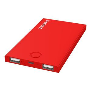X-Moove Powergo Mini Duo Batterie externe pour Smartphone/Tablette 4000 mAh Rouge