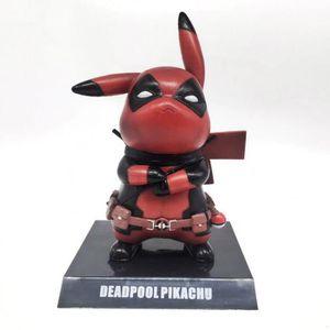 FIGURINE - PERSONNAGE Pokémon Figurine - pikachu cosplay Deadpool Wade W