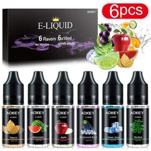 LIQUIDE [6x10ml]E Liquide Cigarette électronique Tabac Liq