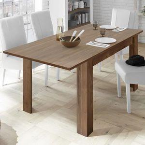 TABLE À MANGER SEULE Table 140 cm avec rallonge couleur noyer contempor