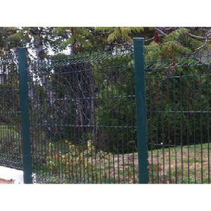 CLÔTURE - GRILLAGE Kit de 5 ml clôture rigide PREMIUM 1,93 m Vert com