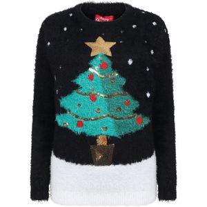 Enfants Filles Noël Nouveauté Licorne Pull Noël Tricot Crème Pull