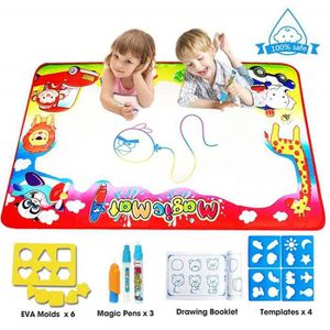 JEU DE COLORIAGE - DESSIN - POCHOIR Tapis Aqua Magic Doodle Mat Enfant,  86*57cm 4Colo