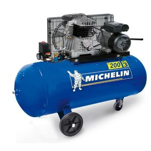 COMPRESSEUR AUTO MICHELIN Compresseur 200L courroie 3CV 10 bars 230