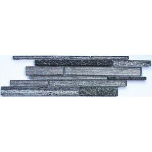 CARRELAGE - PAREMENT Listel en pate de verre  Brique - 10 x 30 cm - Noi