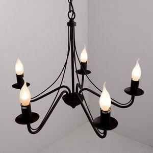 luminaire lustre lampe lustre style campagne plafo achat. Black Bedroom Furniture Sets. Home Design Ideas