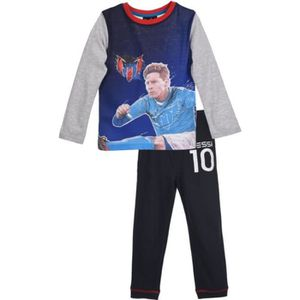 PYJAMA Pyjama long  FC Barcelone Messi bleu marine et gri