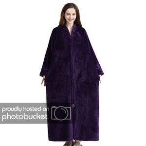 PYJAMA Pyjama Homme en Polaire Longue Hiver Violet M