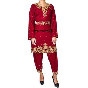 ROBE Tenue indienne Robe bollywood  Rouge salwar kameez