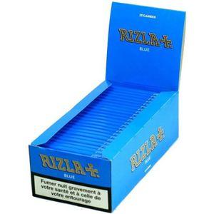FEUILLE À ROULER Boite de 25 Cahiers Papier à Rouler - Rizla Bleu