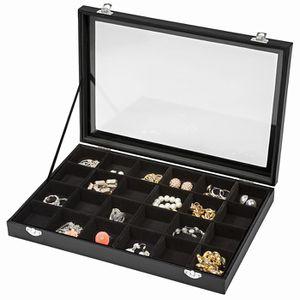 BOITE A BIJOUX TECTAKE Boîte à Bijoux Montres de Rangement 35,5 c