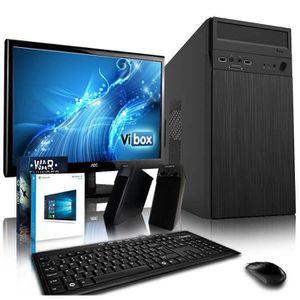 UNITÉ CENTRALE + ÉCRAN VIBOX Efficiency 12 PC Gamer Ordinateur avec War T